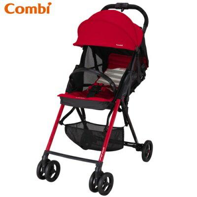 Combi F2 Plus AF 超輕靚單向手推車-搖滾紅
