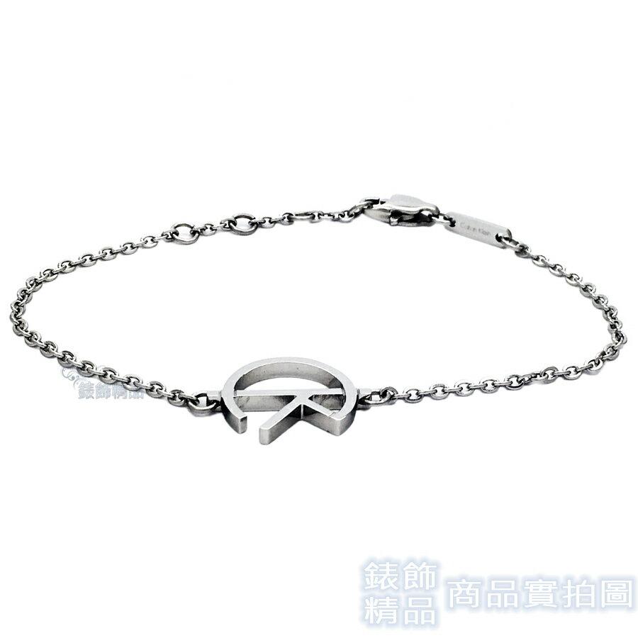 【錶飾精品】CK 飾品 KJ6DMB000100-Calvin Klein CK LOGO 女性手鍊 316L白鋼