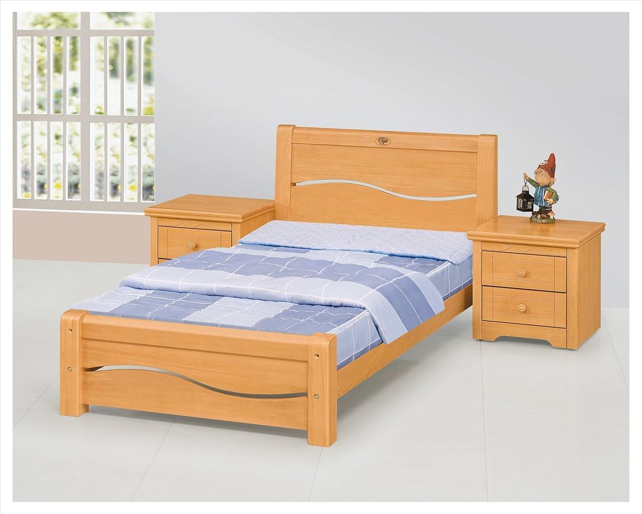 【石川家居】EF-96-2 米蘭3.5尺檜木色單人床架 (不含床墊及含其他商品) 需搭配車趟