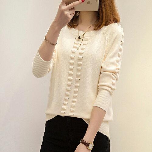 韓版針織衫寬鬆圓領套頭毛衣(5色F碼) 【OREAD】 0