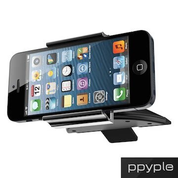 PPYPLE CD-N5 Apple Samsung HTC 通用型 手機 車架 360度 固定架 安裝於吸入式CD槽