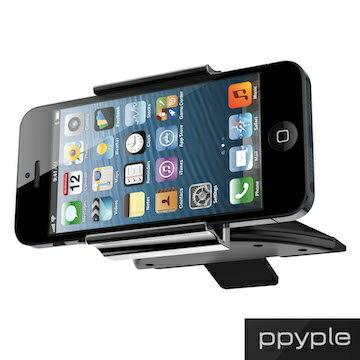 PPYPLECD-N5AppleSamsungHTC通用型手機車架360度固定架安裝於吸入式CD槽