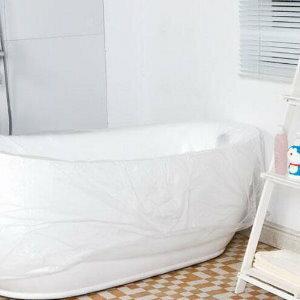 美麗大街【BF282E4E864】旅行戶外一次性衛生隔菌浴缸袋浴桶膜套