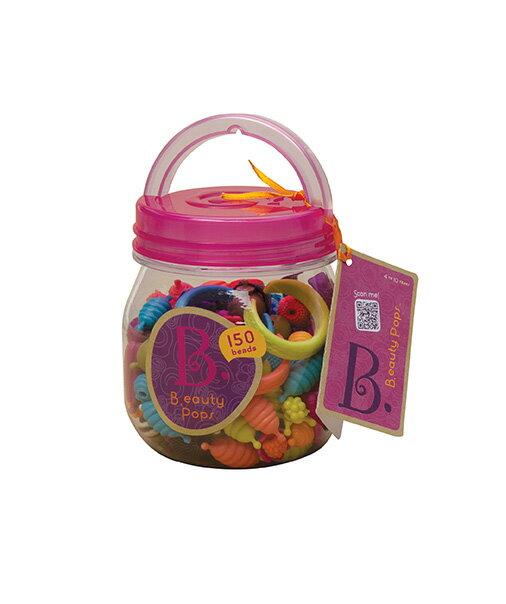 【淘氣寶寶】 美國 B.Toys 感統玩具 波普珠珠-蜂蜜罐150pcs