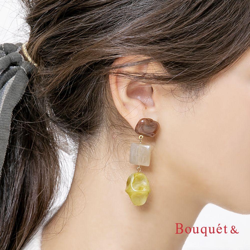 日本CREAM DOT  /  復古天然石穿孔耳環  /  qc0471  /  日本必買 日本樂天直送(1490) 0