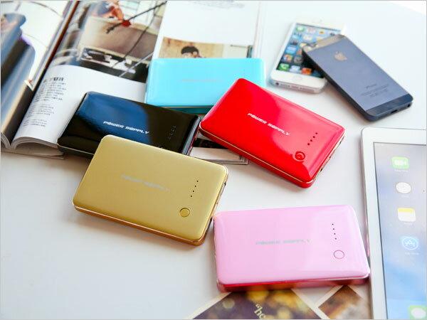 POWER SUPPLY薄彩機行動電源10000mAh 移動電源 內附Micro USB充電線 iPhone 5S 5C NOTE3 S4 HTC SONY Z1 iPAD (B079040)