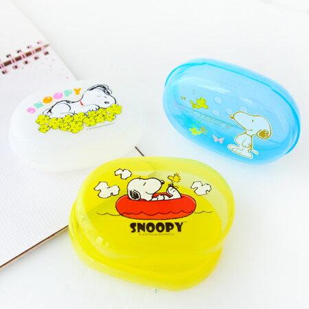 EZMORE購物網:正版史努比肥皂盒台灣製雙層瀝水濾水香皂盒香皂盤肥皂盤Snoopy史奴比【N200673】