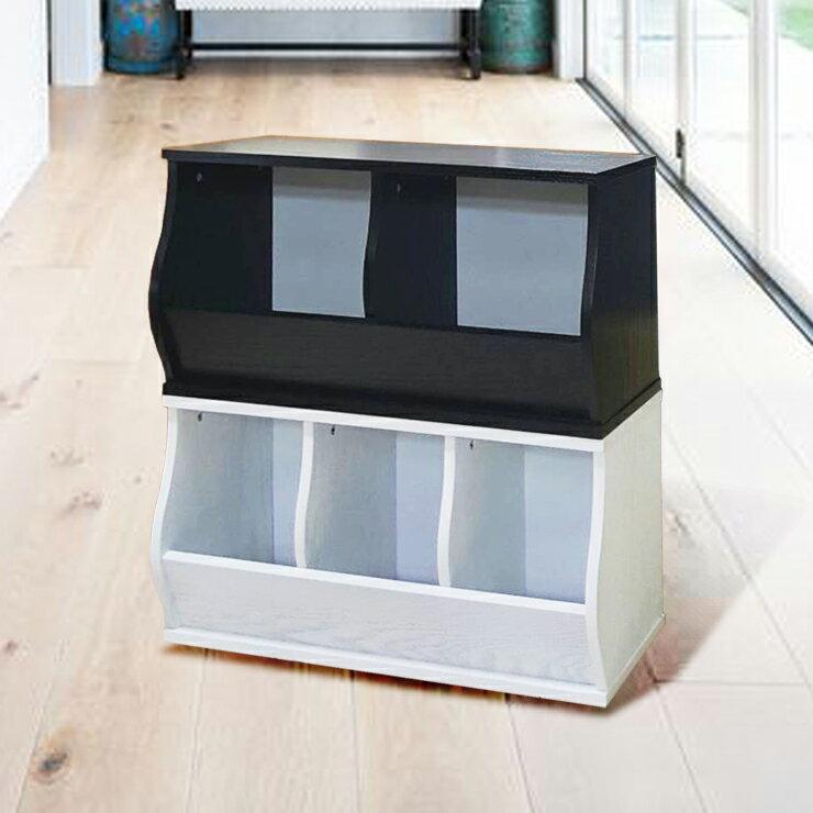 免運費~(3格)DIY質感斜取式造型收納櫃 / 可堆疊收納櫃 / 格櫃 / 斜櫃 / 置物櫃 / 置物盒~ 寬80.5*深30.5*高41公分  #樂創木工# 2