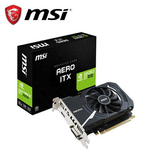 msi 微星GT 1030 AERO ITX 2G OC 顯示卡~三井3C~