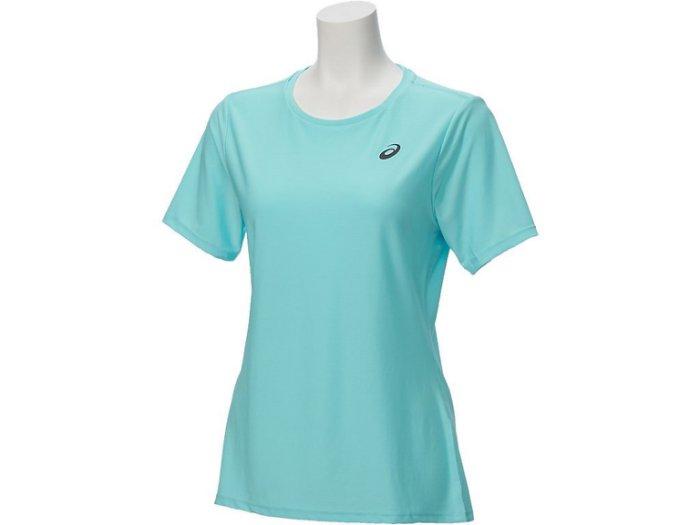 【ASICS 亞瑟士】 女 短袖T恤 LITE-SHOW 反光 運動短T 142607-8121 水藍 [陽光樂活]
