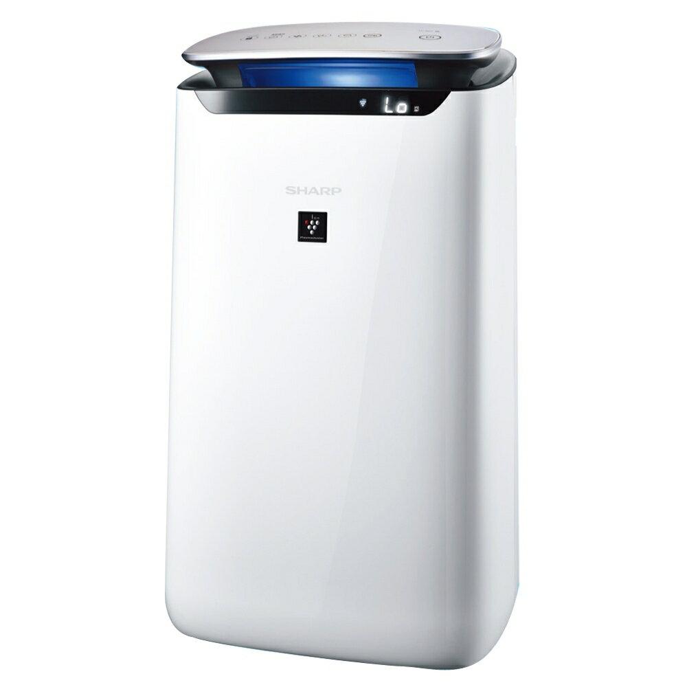 【SHARP夏普】~19坪 自動除菌離子25000空氣清淨機(FP-J80T-W)