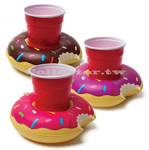 【C16071806】充氣式甜甜圈飲料套 游泳池可樂套 甜甜圈充氣杯座 夏日必備