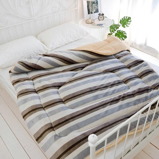 【多款花色任選】保暖法蘭絨羊羔絨暖暖被(150×200cm)-絲薇諾 2