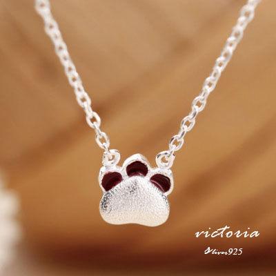 Victoria:S925銀俏皮大方設計感貓爪項鍊-維多利亞160576