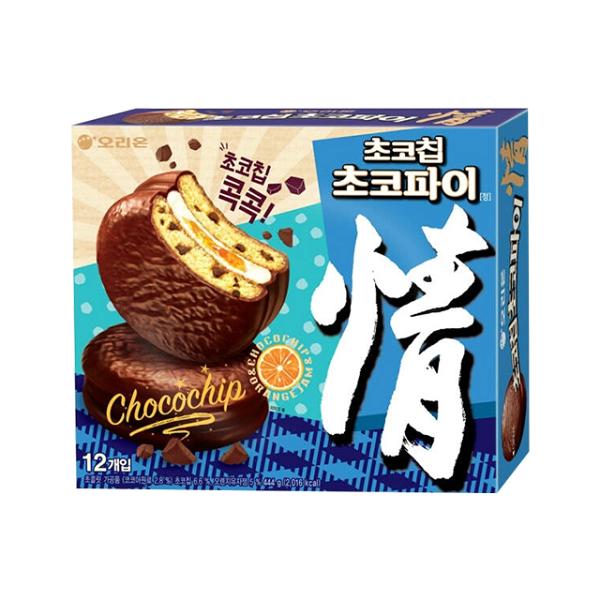 好麗友情巧克力脆片派(橘子風味)444g(12入)