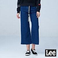 牛仔寬褲推薦到Lee  褲腳開衩寬褲/UR-中藍色就在Lee Jeans tw推薦牛仔寬褲Cosplay