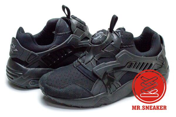 Mr. Sneaker:☆Mr.Sneaker☆PumaDiscBlaze轉盤黑武士後提把蜂巢避震TRINOMIC網布男女段【單筆消費滿1000元全會員結帳輸入序號『CNY100』↘折100