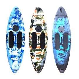 【2米92單人衝浪板-SUPL012-標配-292*80*20cm-1套/組】滾塑塑膠硬艇 潛水衝浪漂流沙灘滑水站著劃(裸艇+T槳,需預定+海運)-7682035