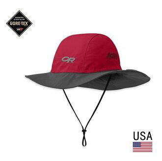 ├登山樂┤Outdoor Research SEATTLE SOMBRERO GORE-TEX 防水圓盤帽 紅/灰 # 82130-94B
