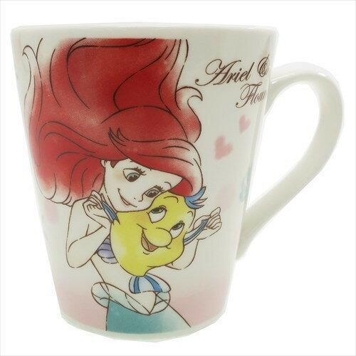 X射線【C065318】小美人魚Ariel小比目魚馬克杯,水杯馬克杯情侶對杯湯杯玻璃杯不鏽鋼杯漱口杯