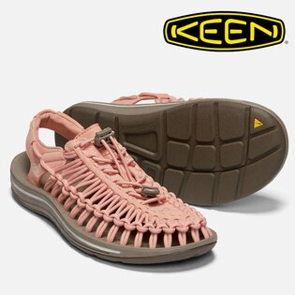 【Keen美國】UNEEK編織涼鞋運動涼鞋休閒涼鞋粉橘色女款(1019937)