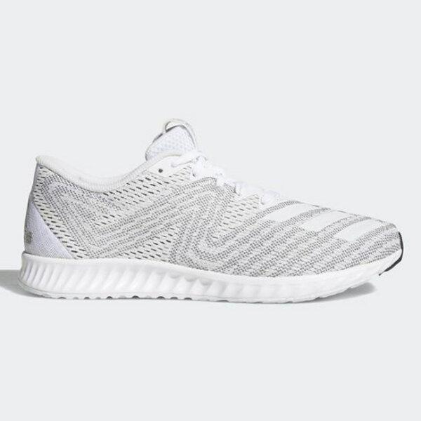 《限時特價↘7折免運》ADIDASAeroBounce女鞋慢跑健身訓練輕量透氣灰白【運動世界】DA9955