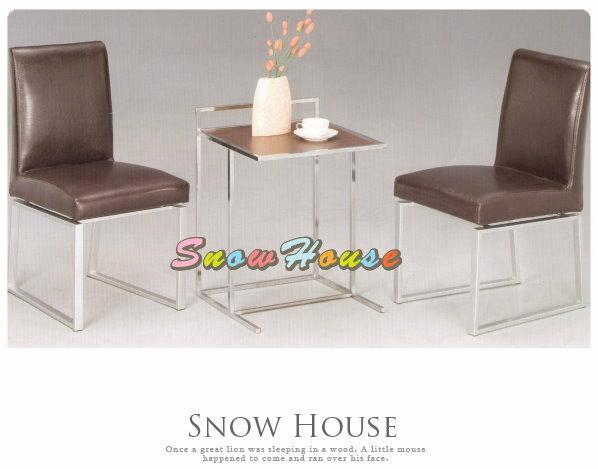 ╭☆雪之屋居家生活館☆╯A278-05E306電鍍腳鐵刀木茶几/休閒桌(不含椅子,椅子另有賣場)