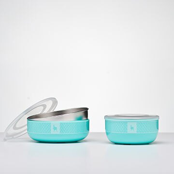 【贈NUK防水圍兜X2】美國【Kangovou】 小袋鼠不鏽鋼安全兒童餐具簡配組(薄荷綠) 2