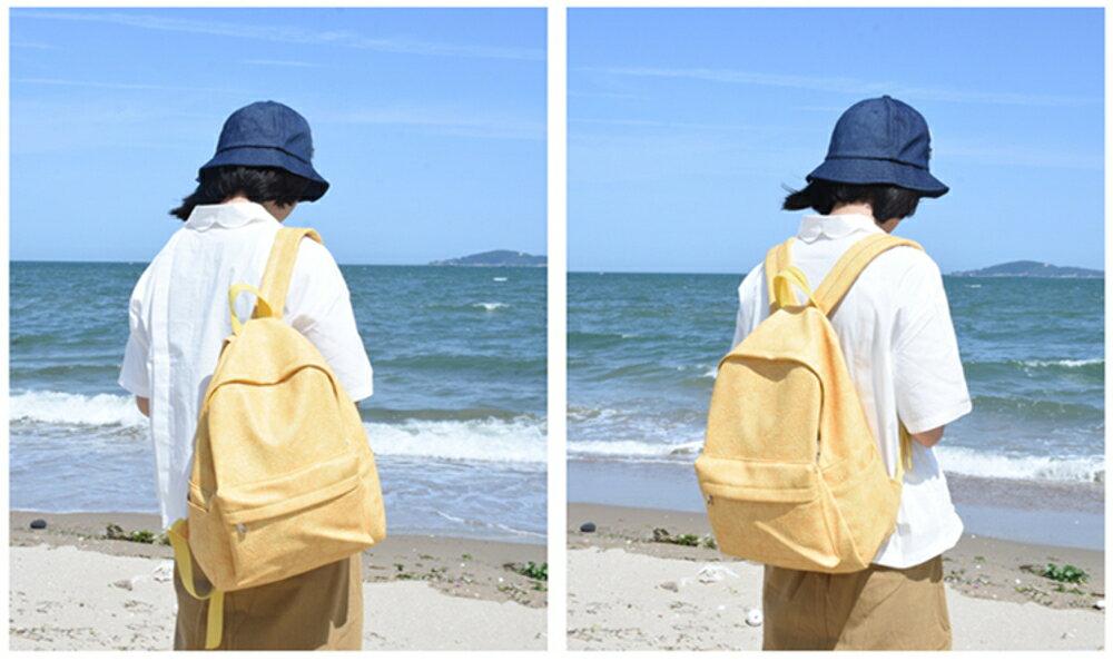 雙肩包後背包PHIUM雙肩包女新款軟皮書包女大學生韓版校園森系復古背包潮 99免運