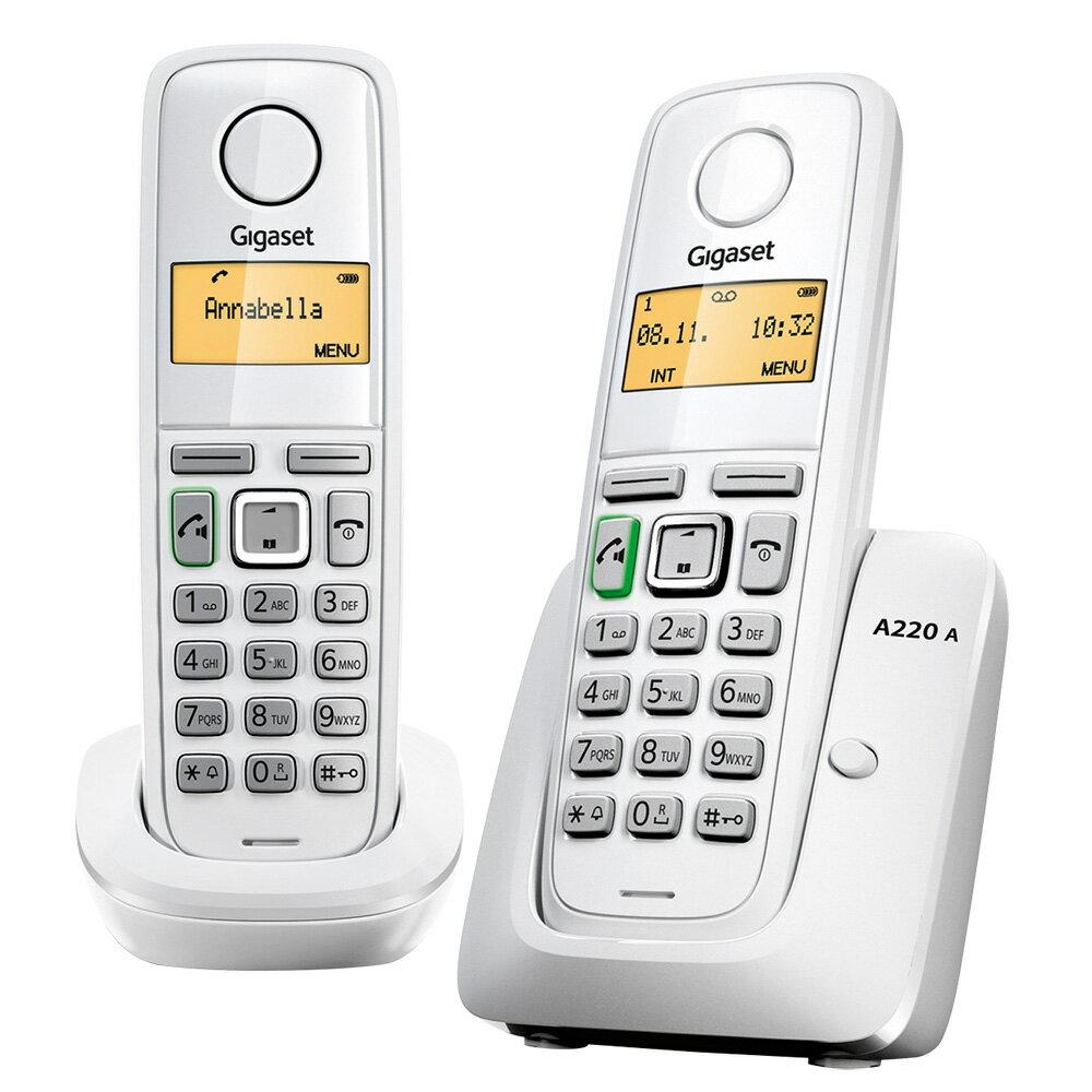 德國Gigaset 無線電話 A220DUO W