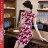 東方美人旗袍唐裝專賣店 ☆°((超低價690元))°☆272(兩色)。優雅美麗蕾絲印花改良式時尚顯瘦日常短旗袍連身裙洋裝 0