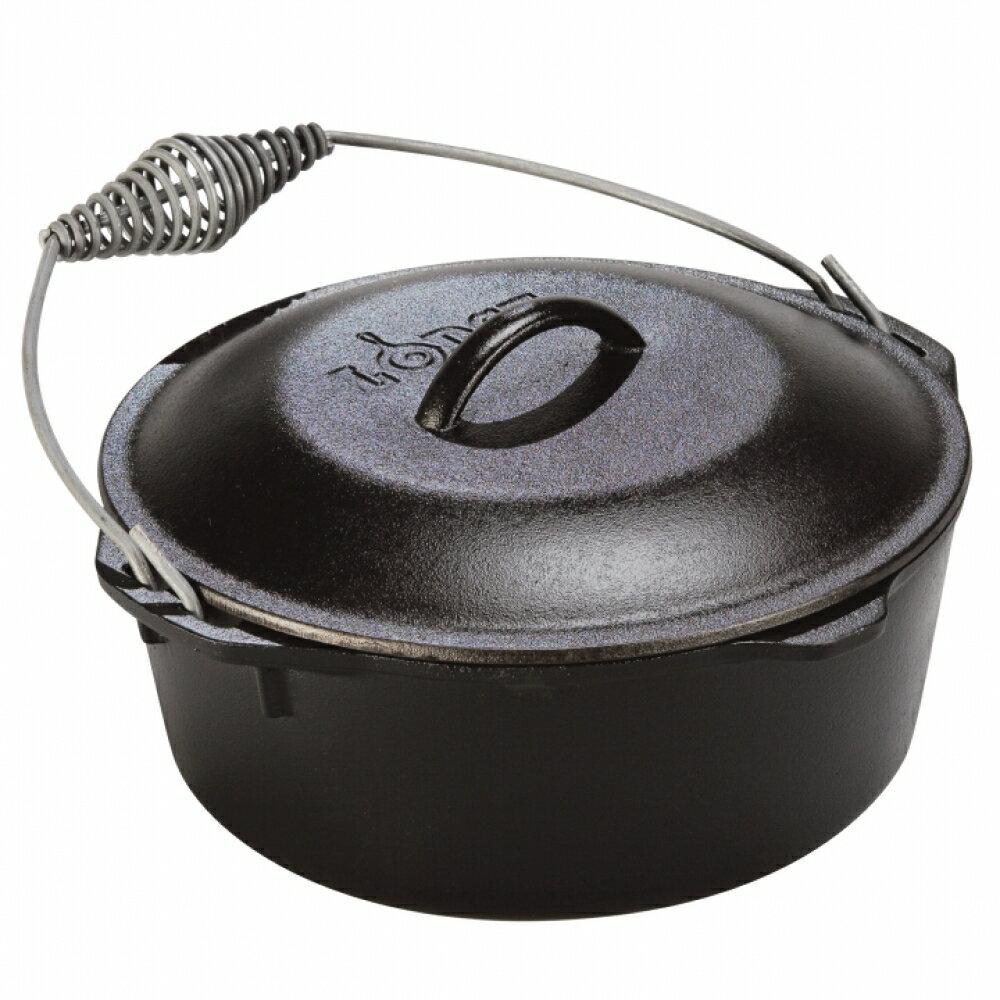 【鄉野情戶外專業】 Lodge |美國| LOGIC DUTCH OVEN 13吋深型提把荷蘭鍋 鑄鐵鍋 燉鍋 湯鍋 L12DO3