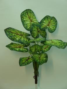 ★超低價★20吋綠彩葉芋(12葉)人造花空間景觀佈置造景