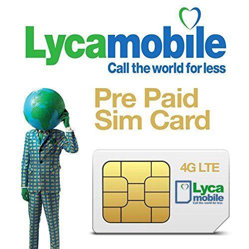 2 X LYCAMOBILE LYCA MOBILE PLUS PREPAID SIM CARD ACTIVATION KIT LYCASIM  LYCA SIM