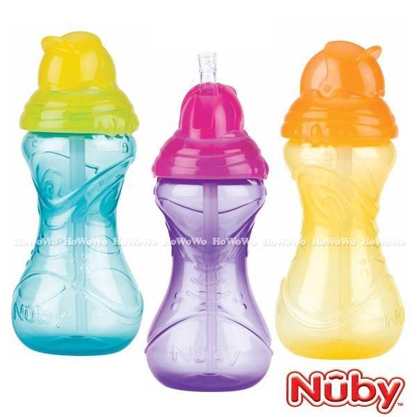 Nuby 卡拉防漏彈跳杯/吸管杯 (360ML ) 10112 好娃娃