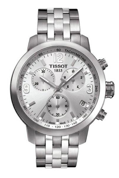 TISSOT天梭T0554171103700 PRC200石英計時腕錶/灰面42mm
