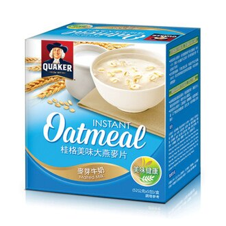 桂格 美味大燕麥片-麥芽牛奶 (52gx5包)/盒