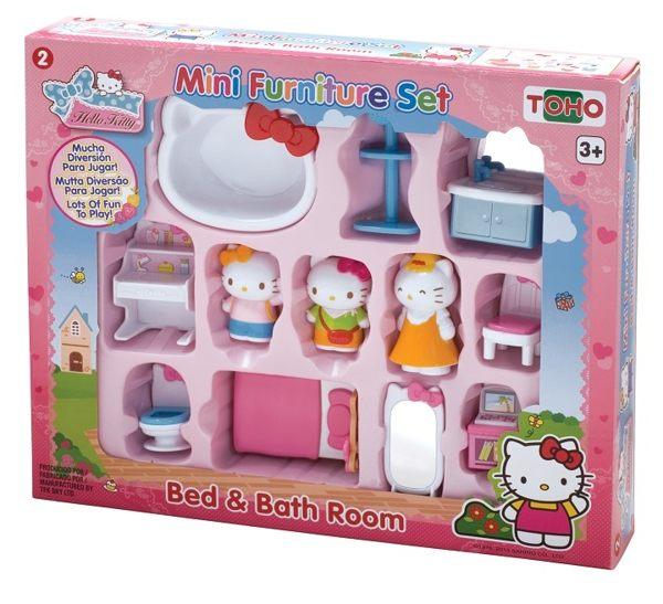 【Hello Kitty】KT迷你家具組-臥室與衛浴 KT18058
