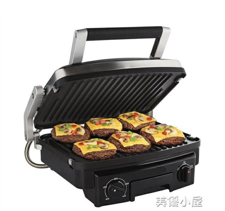 夯貨折扣!德國多功能全自動三明治機烤牛排機家用帕尼尼機雙面加熱漢堡機