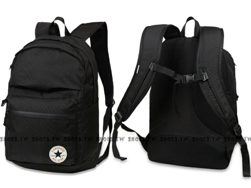 Shoestw【10002844001】CONVERSE ALLSTAR 後背包 2代 黑色 I PAD夾層