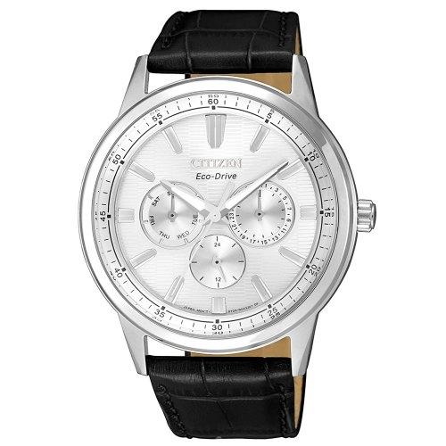 清水鐘錶 CITIZEN 星辰 BU2071-01A 光動能三眼潮流時尚腕錶 白 黑 44mm