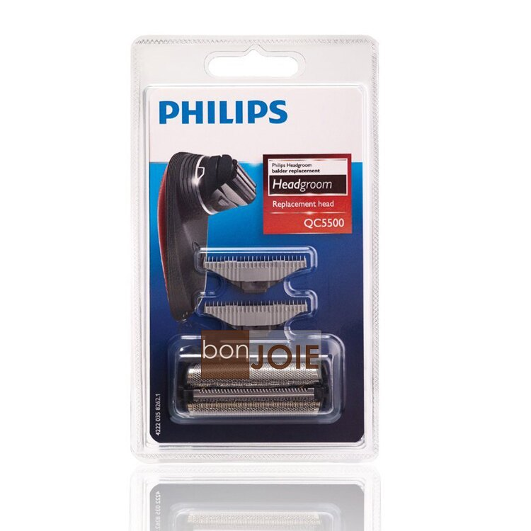 ::bonJOIE:: 美國進口 飛利浦 Philips QC5500/50 替換刀網 (QC5580 QC5550 適用) 電動剪髮器 理髮器 替換刀頭 替換頭
