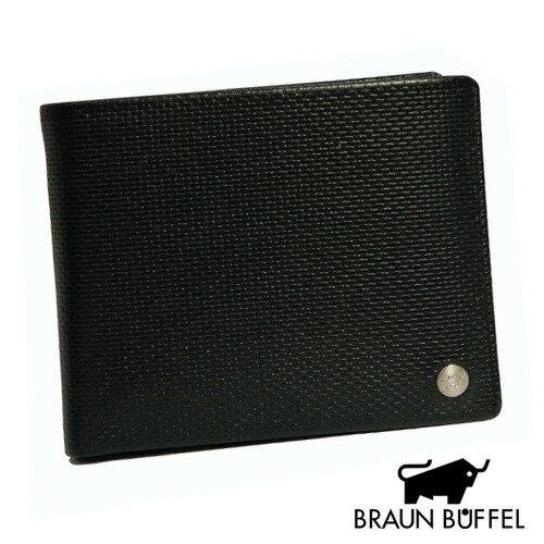 《BRAUN BUFFEL》 壓紋系列-十卡相片短夾/咖(BF039-326W-BR)