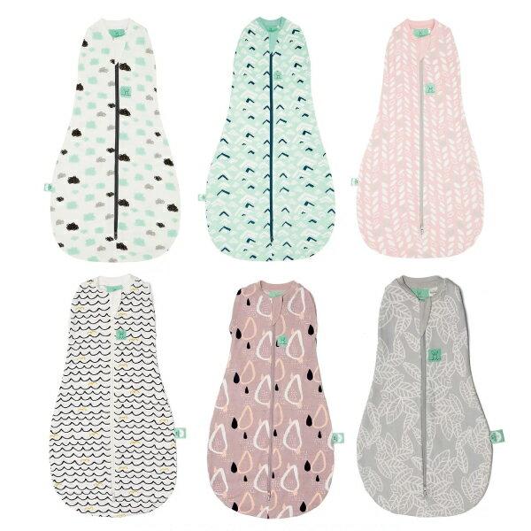 【全品牌任兩件贈三角圍兜】ergoPouch airCocoon 二合一竹纖有機舒眠包巾 (0~3M/3-12M) 懶人包巾 (6款可選)