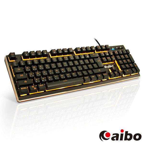 aibo靈動魔鍵機械手感背光電競鍵盤有線鍵盤電腦鍵盤USB鍵盤外接鍵盤懸浮按鍵