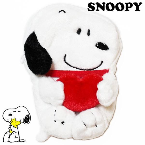 【史努比零錢收納包】史努比 零錢包 收納包 愛心款  Peanuts  日本正版 該該貝比日本精品