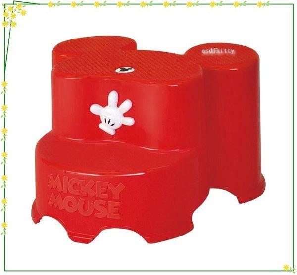 asdfkitty可愛家☆迪士尼米奇紅色防滑階梯椅/墊腳椅/刷牙洗澡上廁所墊高-日本製