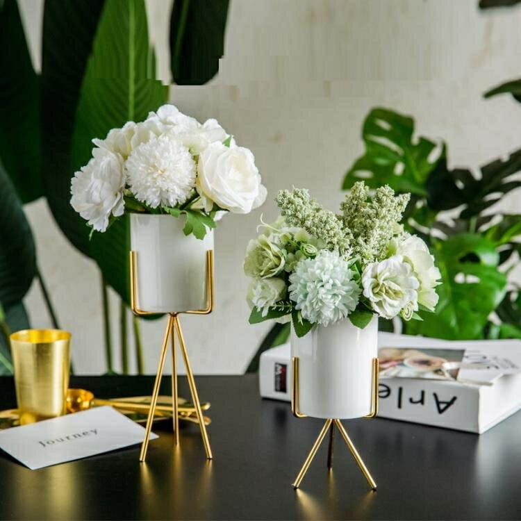 假花 ins北歐客廳茶幾假花藝餐桌仿真干花束擺件擺設裝飾家居創意塑料-韓尚華蓮