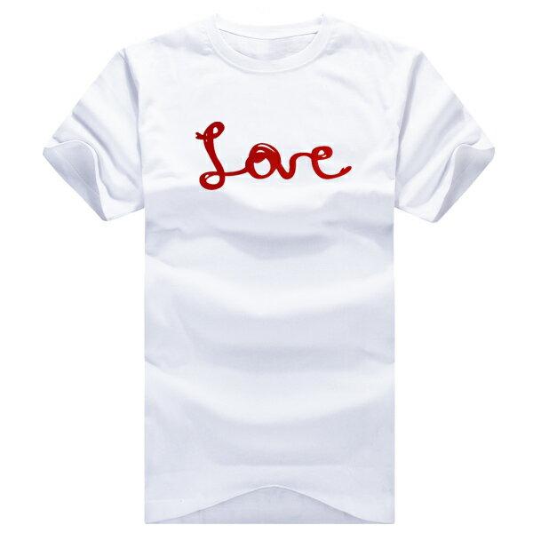 T恤 親子裝 全家福  可客製化 MIT台灣製純棉短T 班服◆快速出貨◆獨家配對情侶裝.紅線LOVE愛心【YC168】可單買.艾咪E舖 2