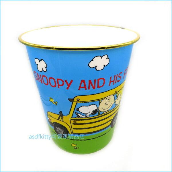 asdfkitty可愛家☆SNOOPY史努比巴士垃圾桶收納桶玩具桶-日本正版商品